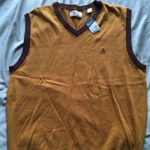 Men's Penguin Sweater Vest. (XXL)